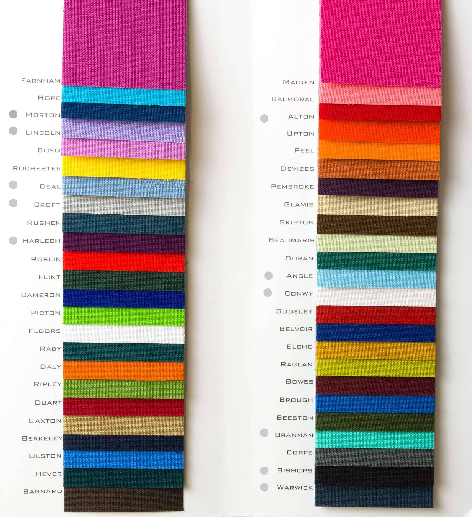 H&Co Windsor Fabric & Color Swatch for Bespoke Binders and Boxes