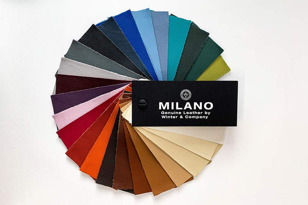 Milano leather swatch for portfolios