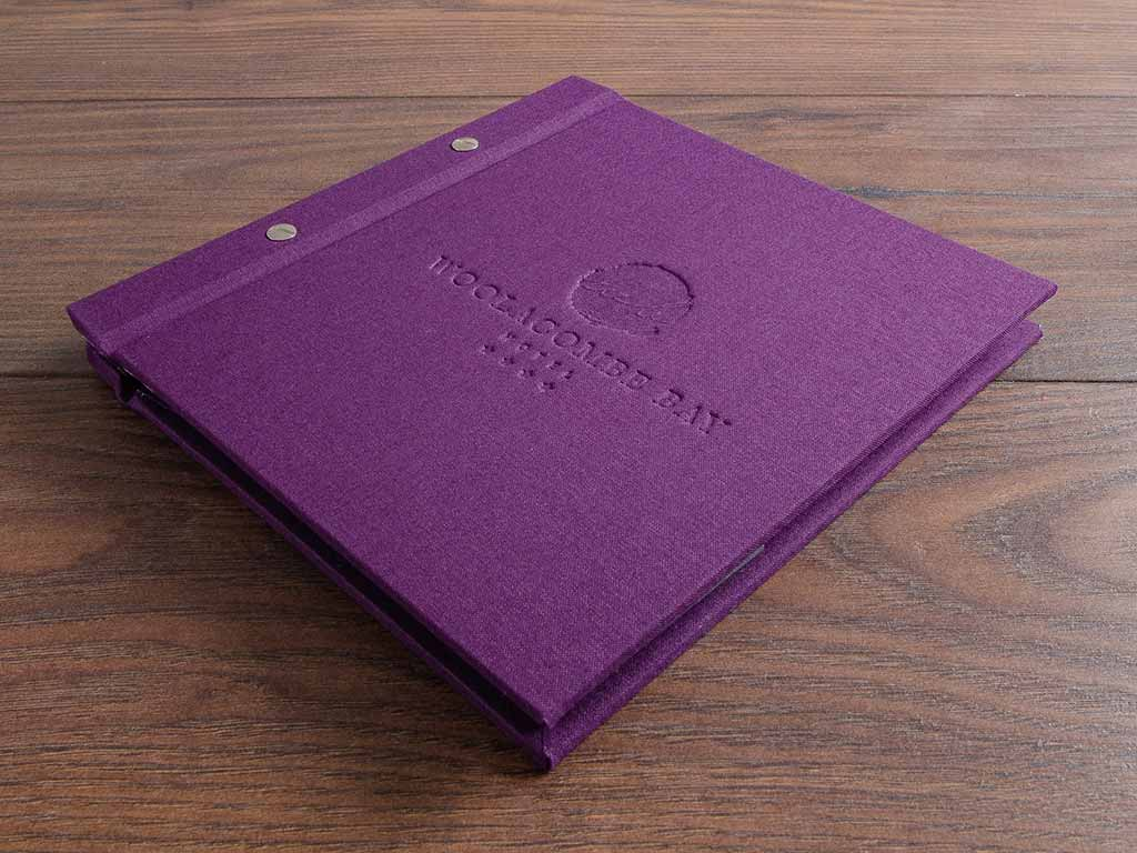 a5 screw post hotel guest book with personalised cover