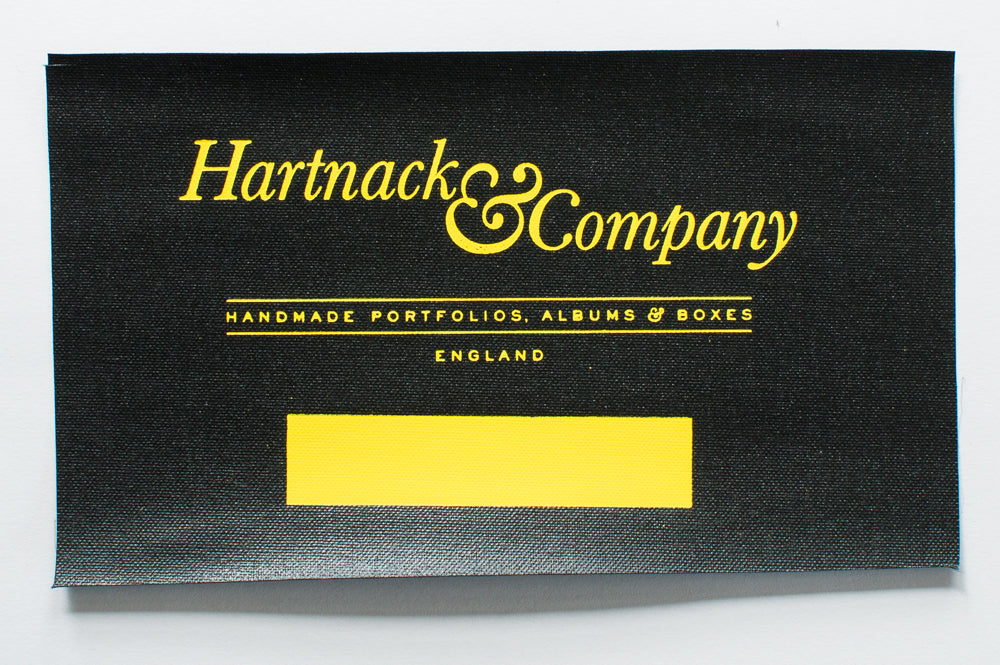 Yellow Foil on Black Buckram