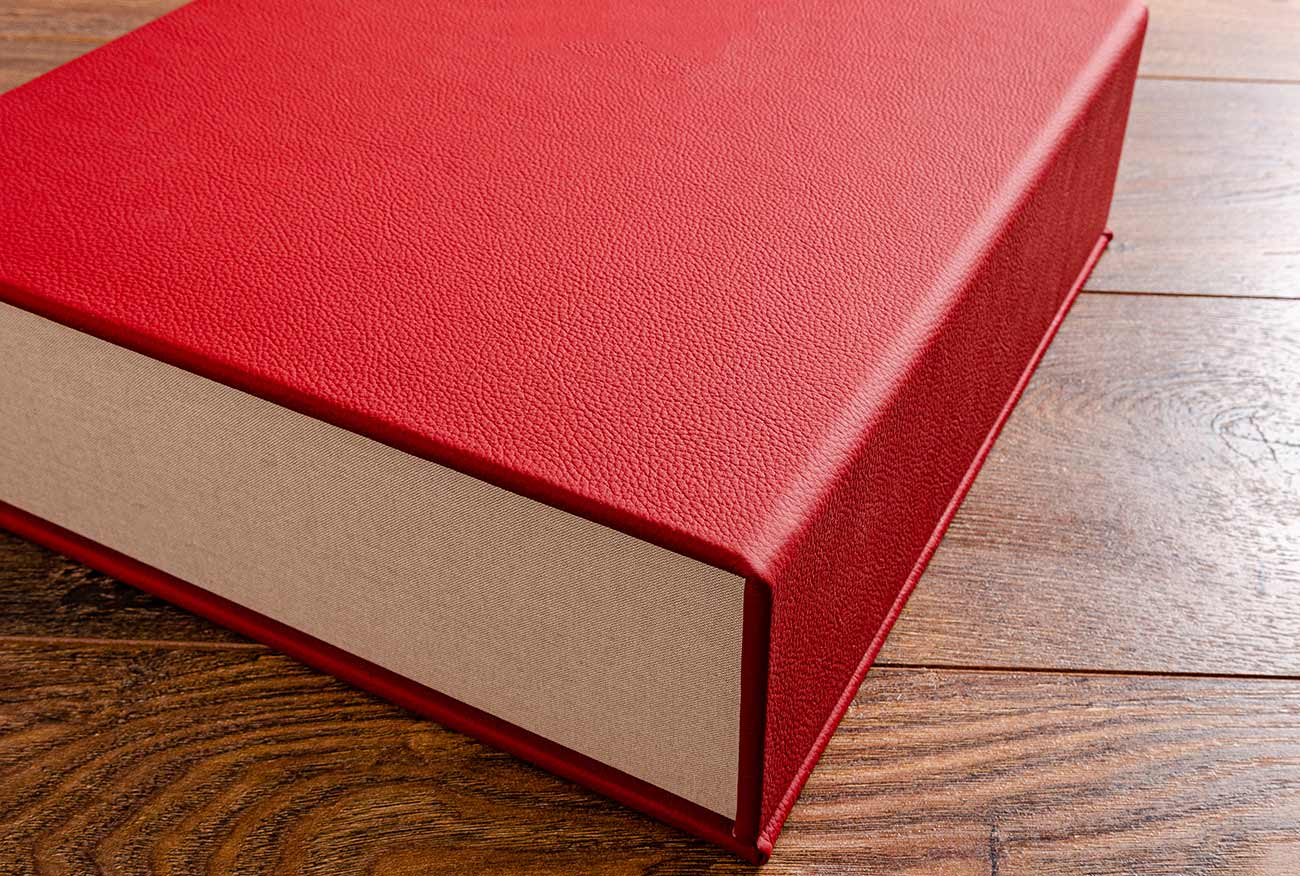 The red leather for the vehicle document box matched the interior leather of the car