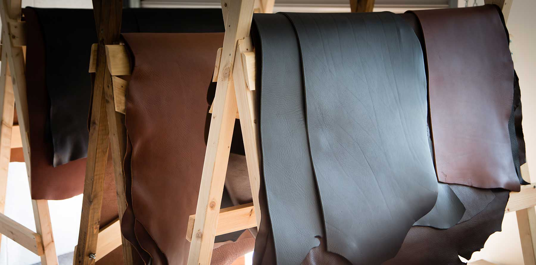 veg tanned leather hides to be used for leather albums and portfolios