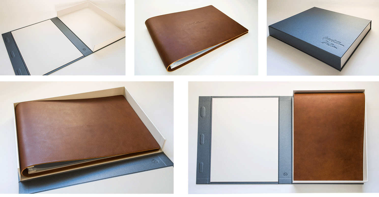 leather scrapbook and keepsake box by hartnack and co
