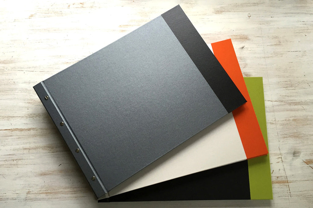 Off the shelf custom portfolio books