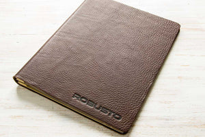 A4 Leather Binder using 2.5mm Brown Leather