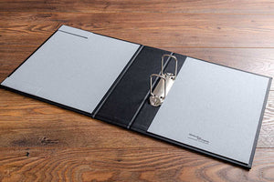 Medical portfolio with 65mm 2 ring Q binder and contents page holder on inner cover