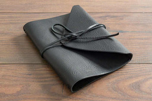 Luxury Soft Leather A5 Leather Notebook Wrap with Leather Strap