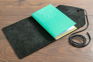 A5 Leather Notebook Holder - 2.5mm Leather with Strap