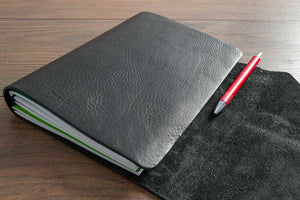Leather Notebook Wrap With Room For A Pen