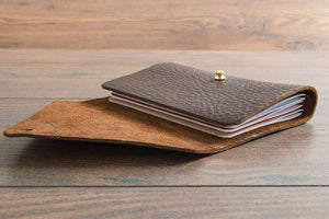 Luxury Double Fold Notebook Cover in 2.5mm Soft Veg Tanned leather