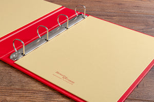 The binder mechanism on our recipe books is a very good quality 4mm, 4 ring D binder.