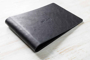 A4 Landscape Ring Binder in 2.5mm Black Leather