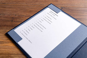 An optional extra on your medical portfolio would be to include an Index & Contents page holder
