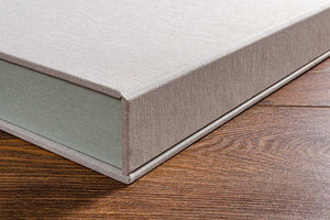 The outer cover of our clamshell boxes are made from 4mm thick board which provides both an elegant but very robust outer cover.
