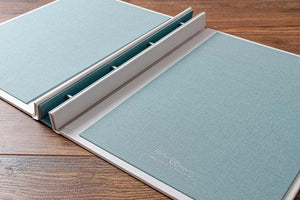 Inner portfolio covers can be either a matching colour or can be the same as the outside cover colour.