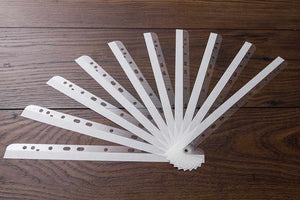 plastic hinge file strips with adhesive edge