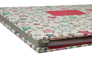 One of the first H&Co binders ever made - Childs scrapbook memory keeper with custom cotton fabric cover.