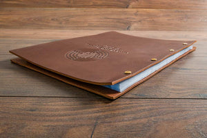 "A4 & 8.5"" x 11"" Exposed Screw Post Leather Menu Cover"