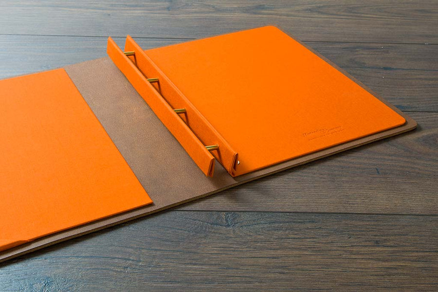 A4 leather screw post portfolio book and leather album