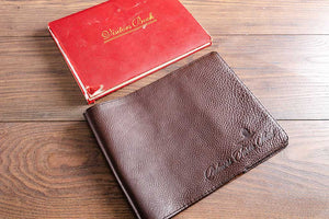 H&Co leather book jackets can be made to fit any size of log book or guest book and are available in different leather colours