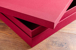 As with all Hartnack handmade boxes they are made with thick double lined walls for strength and rigidty