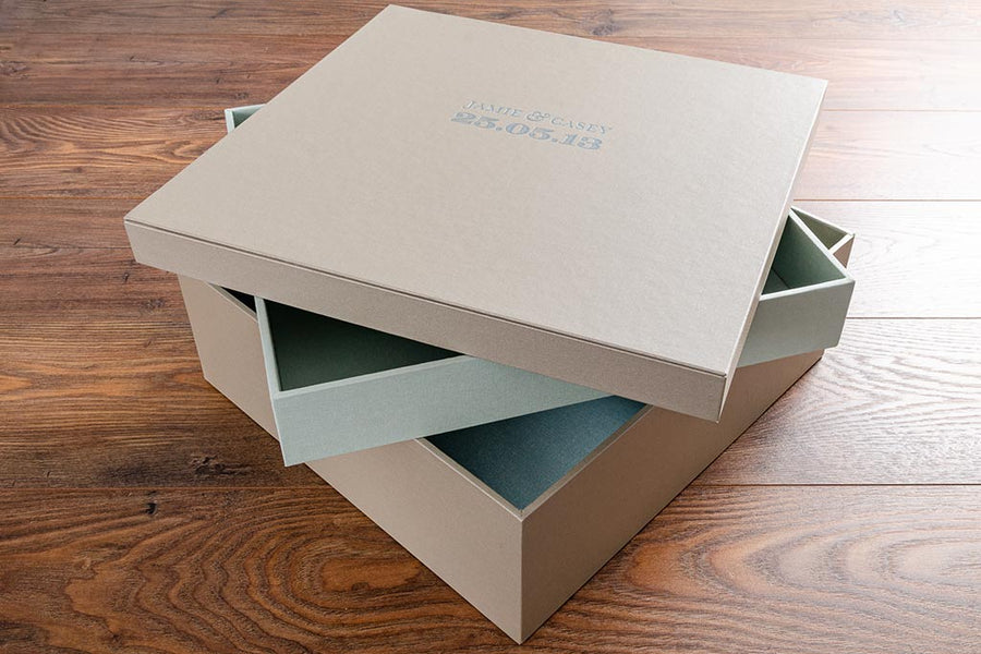 Multi Tier Box With Fitted Lid (shoe box style box)