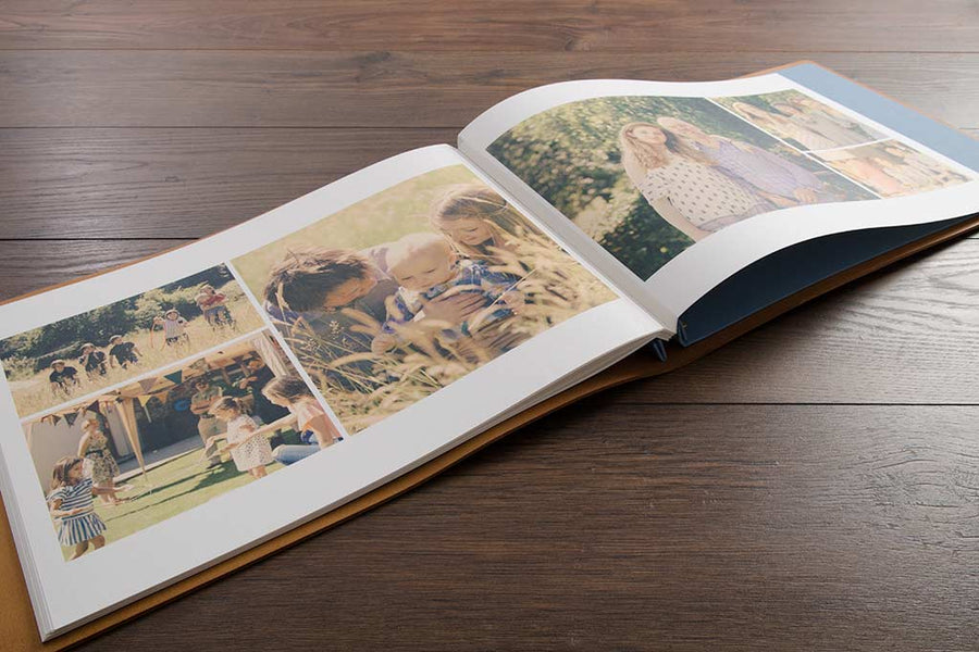 large personalised luxury leather wedding album