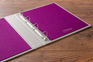 Ring binder with 2.5mm binder mechanism and inner cover colour of Harlech Colorado book cloth