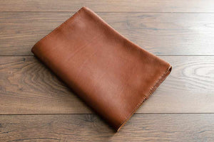 Custom Made Leather Document Wallet - Tan Coloured Leather