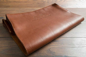 Quality Leather Document Wallet - Hand Stitched Detailing