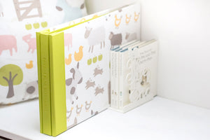 Babies scrapbook album in specially supplied fabric material for the cover