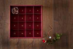 christmas decoration keepsake memory box with sixteen compartments for decorations