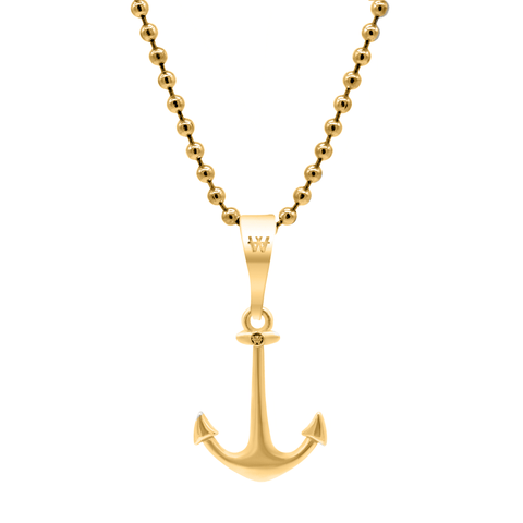 Anchor Necklace - Gold