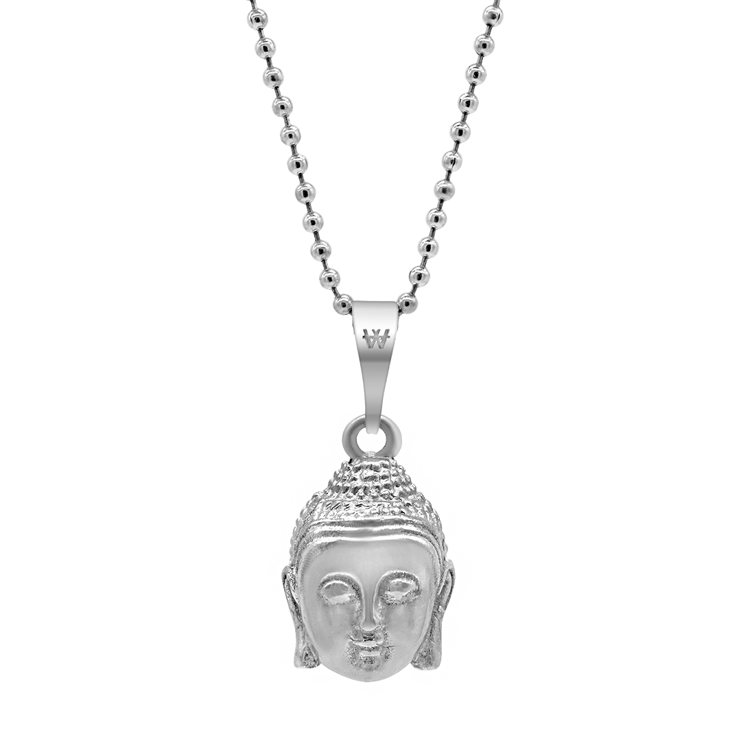 Buddha Necklace - Silver