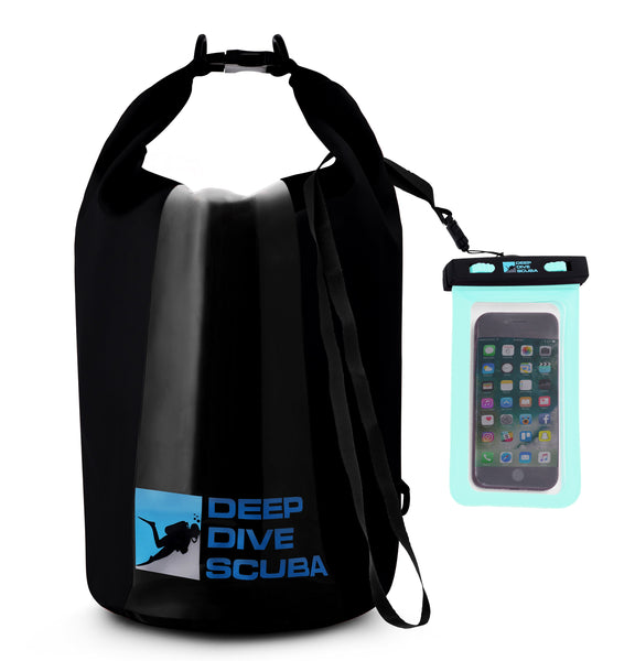 Deep Dive Scuba Dry Bag + Phone Case Bundle