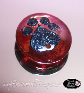 Hand Painted Glass Gems - Paws and Bones - Original Designs by Cathy Kraemer