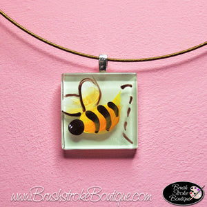 Hand Painted Jewelry - Bumble Bee - Original Designs by Cathy Kraemer