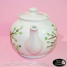 Hand Painted Teapot - Birdnest - Original Designs by Cathy Kraemer