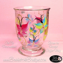 Hand Painted Coffee Mug - Pastel Butterflies - Original Designs by Cathy Kraemer