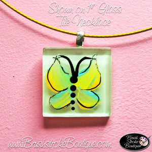 Hand Painted Jewelry - Yellow Butterfly - Original Designs by Cathy Kraemer