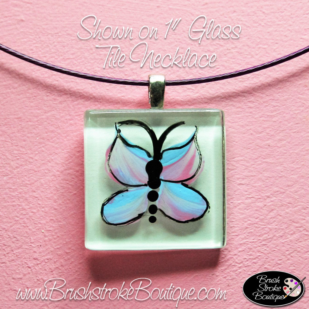 Hand Painted Jewelry - Blue Butterfly - Original Designs by Cathy Kraemer