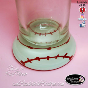 Hand Painted Pilsner Beer Glass - Chicago White Sox Sports Team - Original Designs by Cathy Kraemer