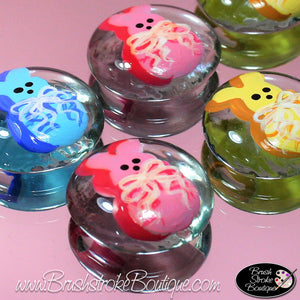 Hand Painted Glass Gems - Easter Bunny Treats - Original Designs by Cathy Kraemer