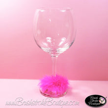 Mini Feather Boa Wine Markers - Choose Your Color to Coordinate with Your Wine Glass