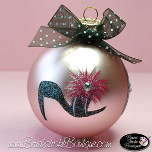 Hand Painted Ornament - Glass Ball Ornament - Girl Fun - Original Designs by Cathy Kraemer