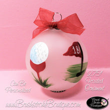 Hand Painted Ornament - Glass Ball Ornament - Golf - Original Designs by Cathy Kraemer