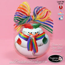 Hand Painted Ornament - Glass Ball Ornament - LGBT Snowman Couple - Original Designs by Cathy Kraemer