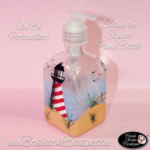Hand Painted Pump Bottle - Lighthouse - Original Designs by Cathy Kraemer