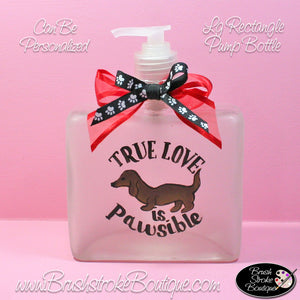 Hand Painted Pump Bottle - Love is Pawsible - Original Designs by Cathy Kraemer