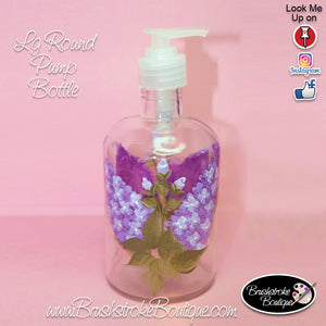 Hand Painted Pump Bottle - Lovely Lilacs - Original Designs by Cathy Kraemer